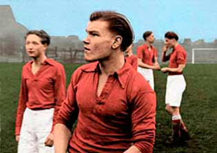 Football match photo coloured